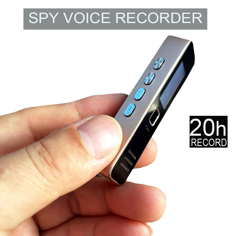 Digital Spy Voice Recorder 20-hour Recording MP3 Player Support 32GB TF Card Professional Dictaphone