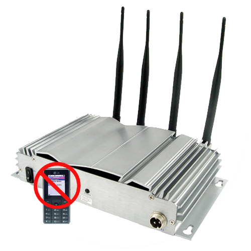 Four band CDMA GSM DCS PHS 3G Powerful Indoor Mobile Phone Signal Jammer - 20M