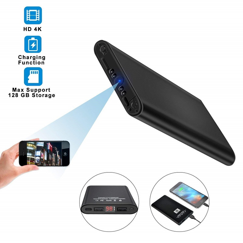 Portable Wireless WiFi Power Bank Spy Camera 5000mAh HD 1080P Video Recording – 3 Hours