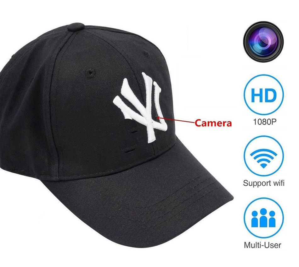 1080P HD Wireless Spy Hidden Camera Hat Covert Video Recorder Camera – 3 hours