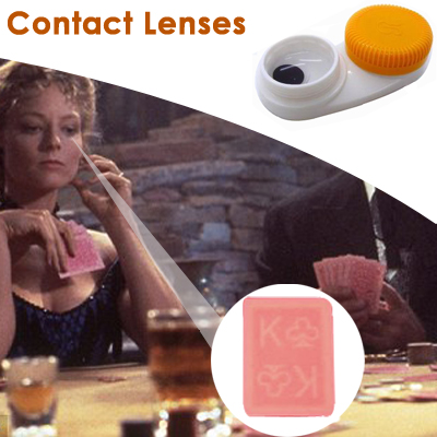 Spy Invisible Marked Plastic Cards with Soft Contact Lenses Grade B