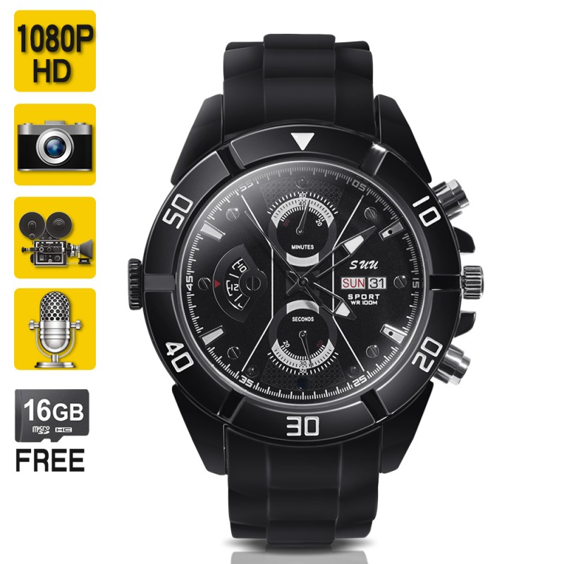 Full HD Spy Camera Watch Wearable Video Camcorder with Audio Recording
