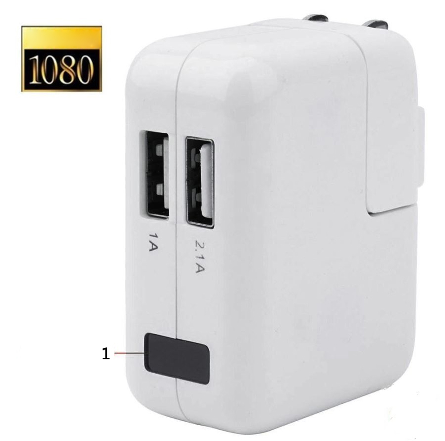 1080P HD Spy Camera USB Wall Charger Video Recording Motion Detection Mini DVR Hidden Camera