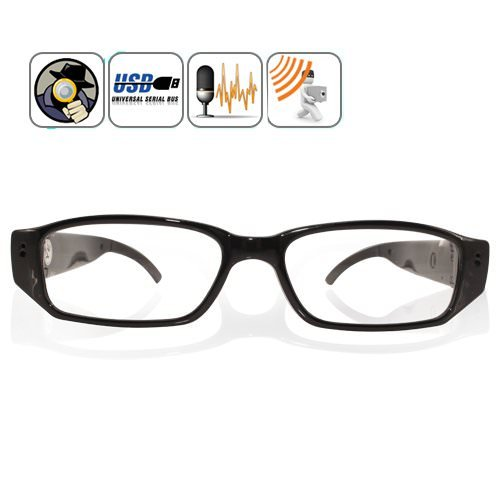 HD 720P Invisible Pinhole Spy Camera Glasses Mini Hidden Eyewear Specs Video Recorder