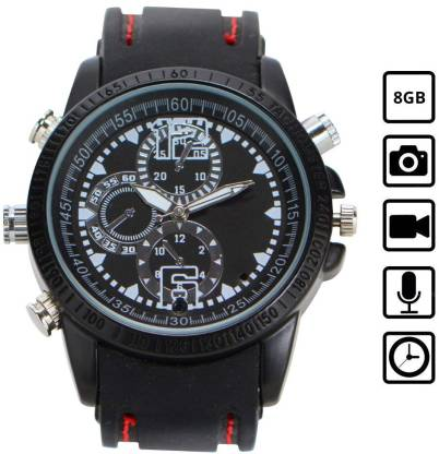 Spy Wrist Watch Camera Hidden Audio Video Recorder 8Gb Inbuilt Spy Camera
