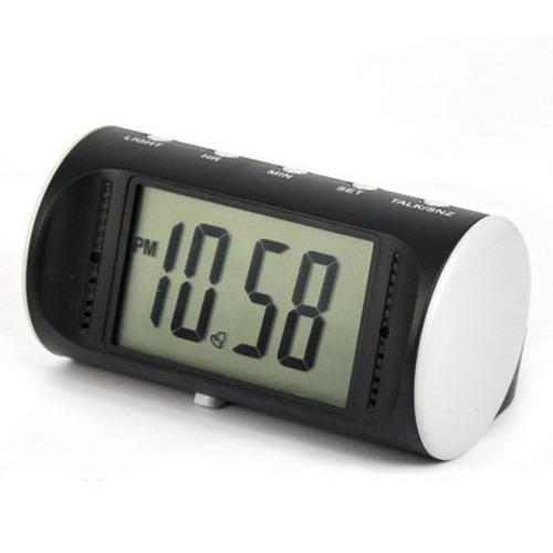 HD Alarm table Clock Camera With Motion Detection Mini DV DVR Wireless Security Camera table clock camera